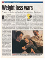 U.S. News & World Report: February 15, 1999 Weight-loss Wars - A spate of deaths and a raft of lawsuits over diet drugs